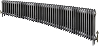Eastgate Victoriana 3 Column 44 Section Cast Iron Radiator 450mm High x 2683mm Wide - Metallic Finish